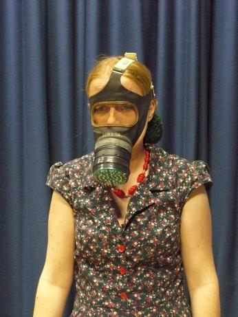 Demonstrating civilian respirator